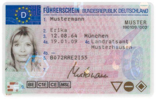 German driver's license online