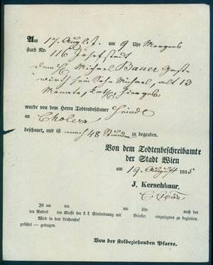Buy Austrian death certificate