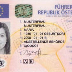 buy Austrian driving license