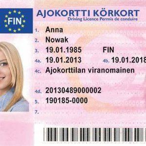 buy Finnish driver's license
