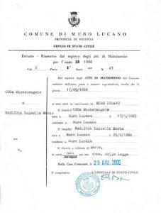 Buy Italian death certificate