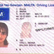 Buy Malta driving licence